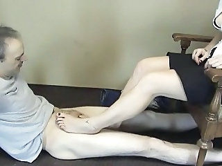 Feet Fetish Old and Young Footjob