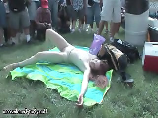 Cute Drunk Outdoor Teen