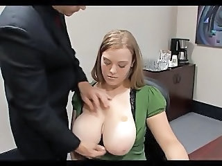 Big Tits European Natural Office Secretary Teen Boss