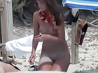 Beach Nudist Outdoor Teen Voyeur