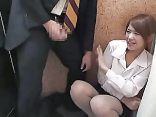 Asian Cumshot Japanese Secretary Voyeur