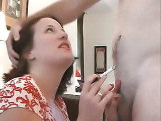 Handjob  Smoking Wife
