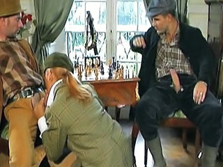 Blowjob Clothed Threesome Vintage French