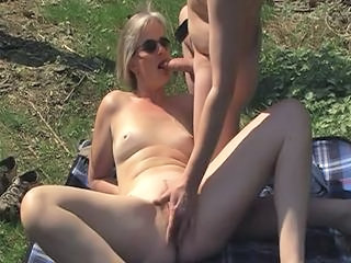 Amateur Blowjob  Older Outdoor Wife Outdoor
