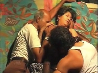 Amateur Homemade Indian Mature Older Threesome Aunty