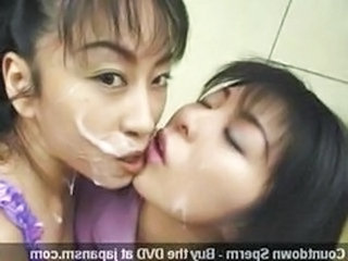 Asian Bukkake Swallow Sperm