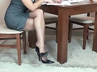 Feet Fetish Legs Secretary Stockings Stockings Nylon