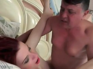 Daddy Daughter Old and Young Redhead Teen Dirty
