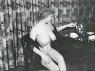 Big Tits  Natural Smoking Vintage