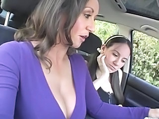 Car Daughter Lesbian  Mom Old and Young Teen