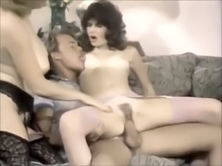 Hairy  Riding Stockings Threesome Vintage