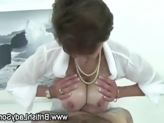 Big Tits British European  Natural Oiled Tits job British