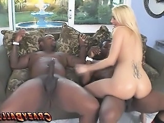 Ass  Interracial  Riding Tattoo Threesome Huge