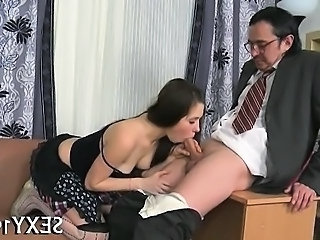 Blowjob Clothed Daddy Old and Young Russian Student Teacher Teen