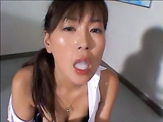 Asian Cumshot Pornstar Swallow