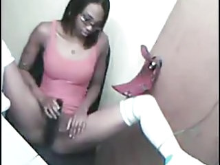 Ebony Masturbating Webcam Amateur