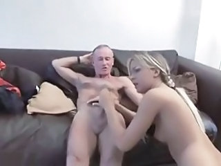Amateur British Daddy Daughter European Handjob Old and Young British