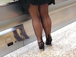 Chubby Legs  Public Stockings Stockings