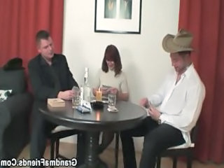 Drunk European Mature  Threesome