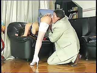 Amazing  Russian Stockings Teacher