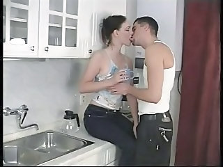 Kissing Kitchen Teen Perky