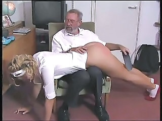 European Old and Young Spanking