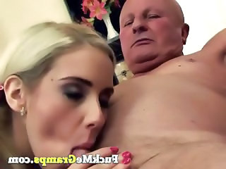 Blonde Blowjob Facial European Old and Young Teen
