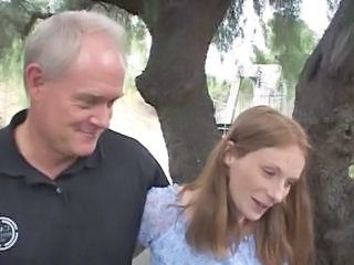 Daddy Daughter Old and Young Redhead