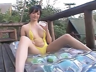 Asian Big Tits Bikini Japanese Oiled Outdoor Teen