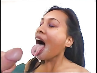 Cumshot Latina Piercing Swallow Teen