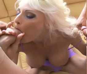 Blonde Blowjob Facial European Mature Threesome
