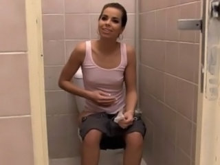 European Skinny Teen Toilet Domination Brutal