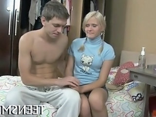 European Girlfriend Pigtail Small Tits Teen