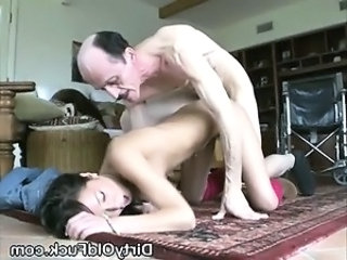 Daddy Daughter Doggystyle Old and Young Skinny Teen
