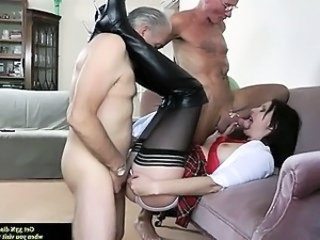 Blowjob Clothed Daddy Mature Older Stockings Threesome Stockings