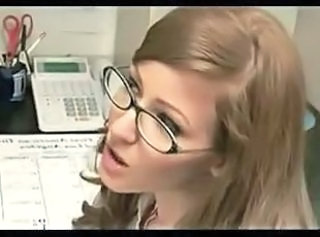 Facial Glasses  Office Redhead Secretary