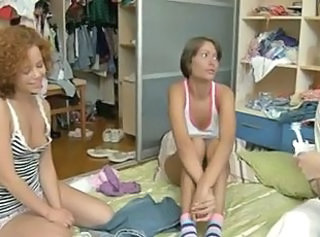 Cute European Homemade Teen Threesome