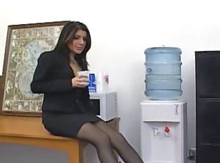 Babe European Office Pantyhose Pantyhose Boss