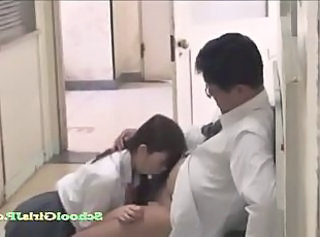 Asian Blowjob Clothed Daddy Japanese Old and Young Student Teacher Teen Uniform Schoolgirl