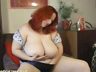 Big Tits Masturbating  Natural Redhead