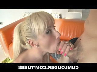Blonde Facial European Hardcore  Swallow