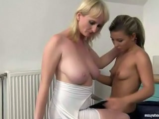 Lesbian Mature Mom Old and Young Teen