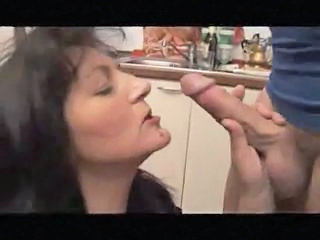 Blowjob European Italian Kitchen Mature Italian