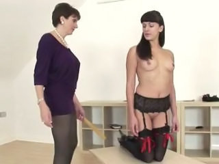 European Fetish Lesbian  Spanking Stockings