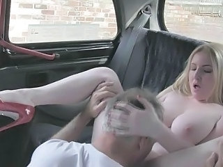 Babe Big Tits Car European Licking Old and Young Teen