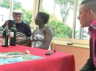 Drunk Ebony Interracial Old and Young Swingers Wife Son