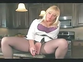 Big Tits Kitchen Masturbating  Mom Pantyhose