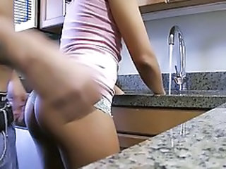 Ass Girlfriend Kitchen Teen