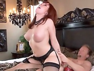 Big Tits Hardcore Lingerie  Redhead Riding Stockings