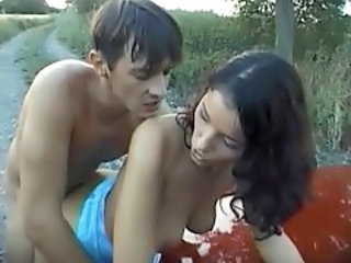 Babe Doggystyle Girlfriend Hardcore Outdoor Public